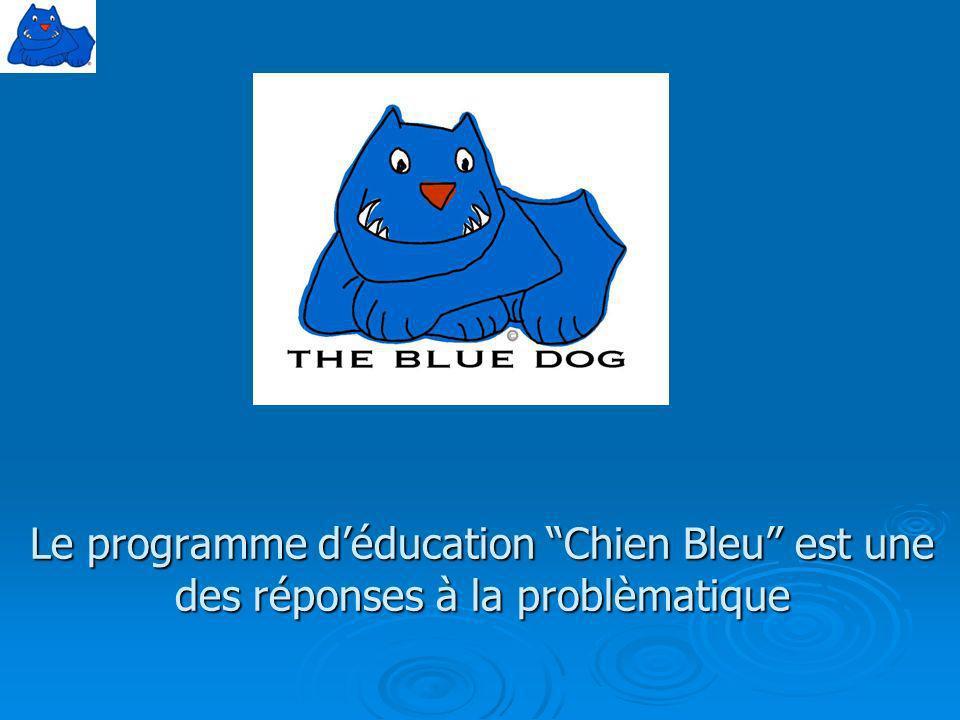 Le programme d'éducation Chien Bleu est une des réponses à la problèmatique