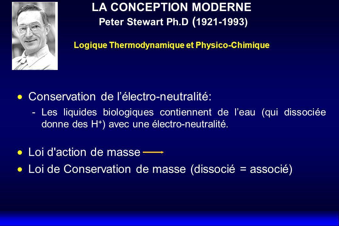 Conservation de l'électro-neutralité: