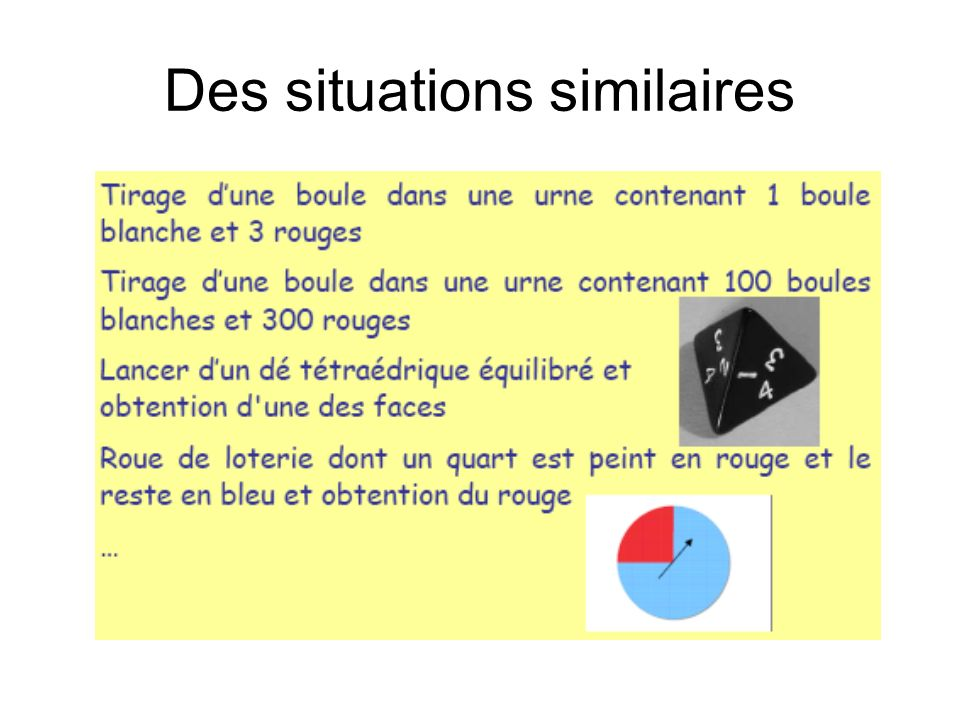 Des situations similaires