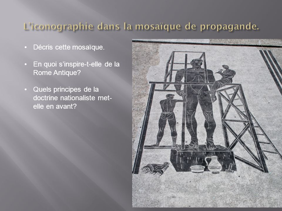 L'iconographie dans la mosaïque de propagande.
