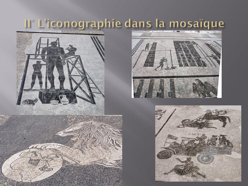 II° L'iconographie dans la mosaïque