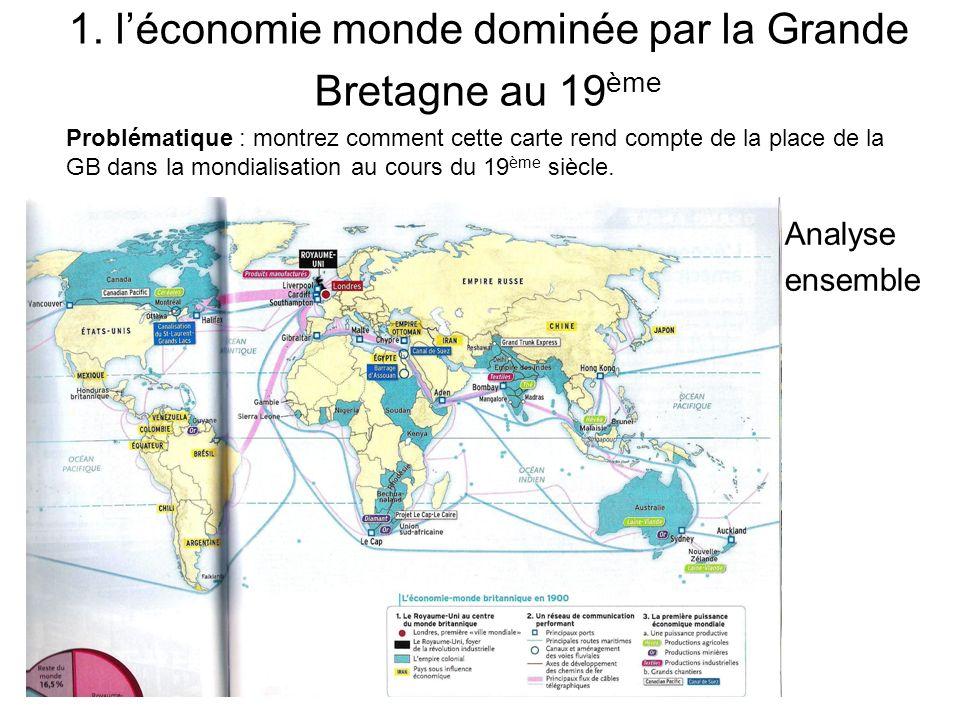1. l'économie monde dominée par la Grande Bretagne au 19ème