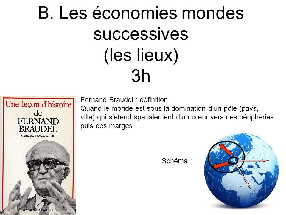 B. Les économies mondes successives (les lieux) 3h