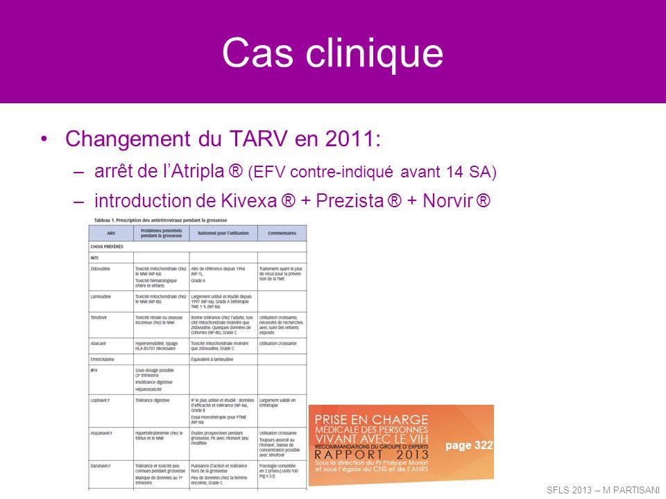 Cas clinique Changement du TARV en 2011: