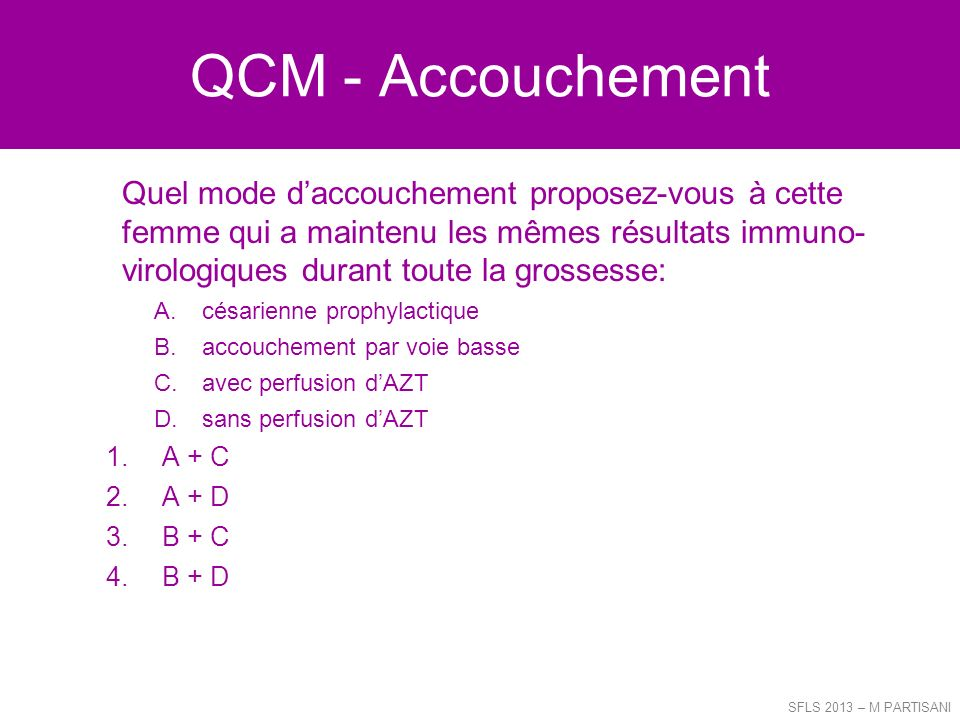 QCM - Accouchement