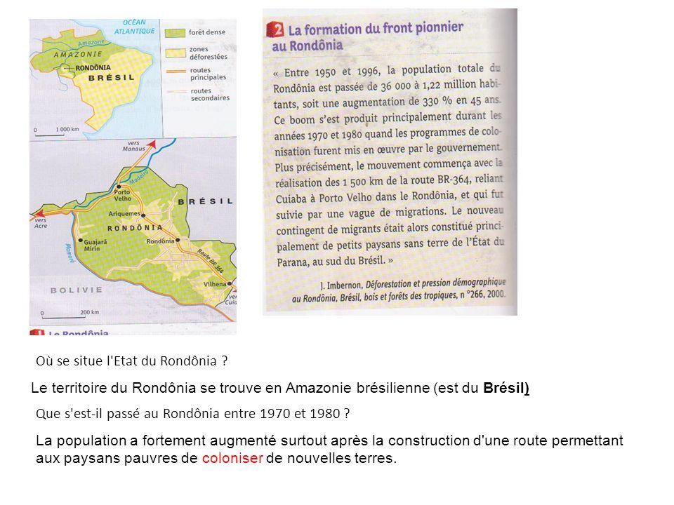 Où se situe l Etat du Rondônia