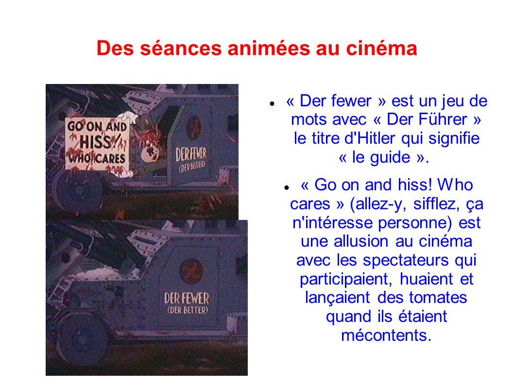 Des séances animées au cinéma