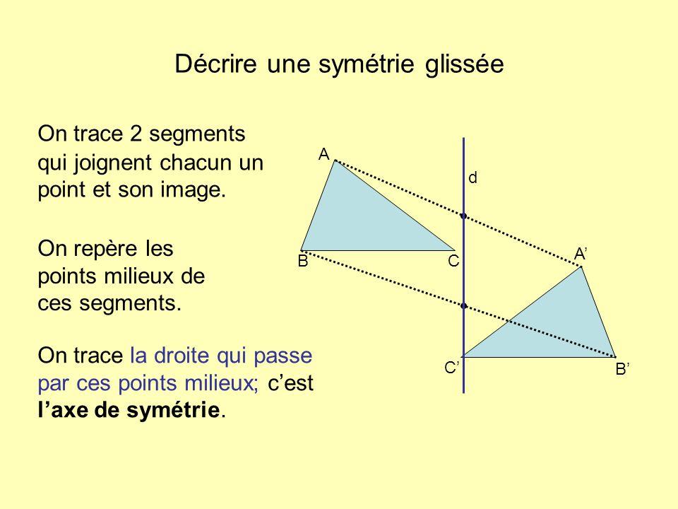 Décrire une symétrie glissée