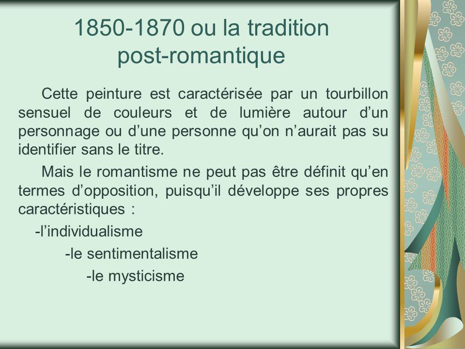 1850-1870 ou la tradition post-romantique