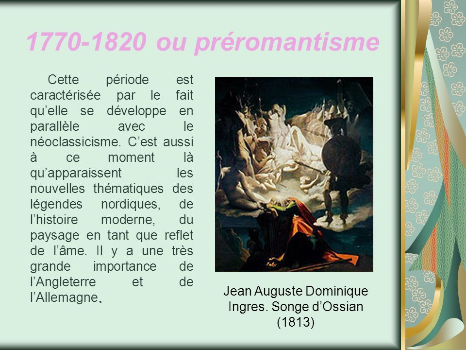 Jean Auguste Dominique Ingres. Songe d'Ossian (1813)