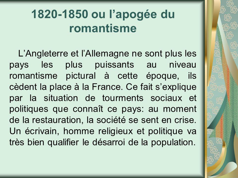1820-1850 ou l'apogée du romantisme