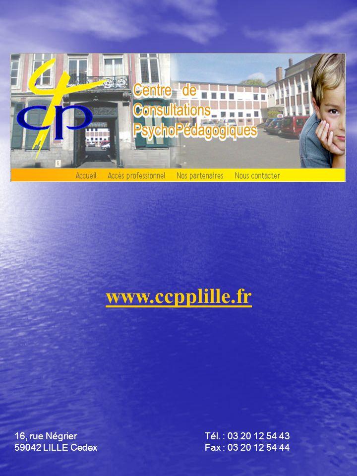 www.ccpplille.fr 16, rue Négrier Tél. : 03 20 12 54 43