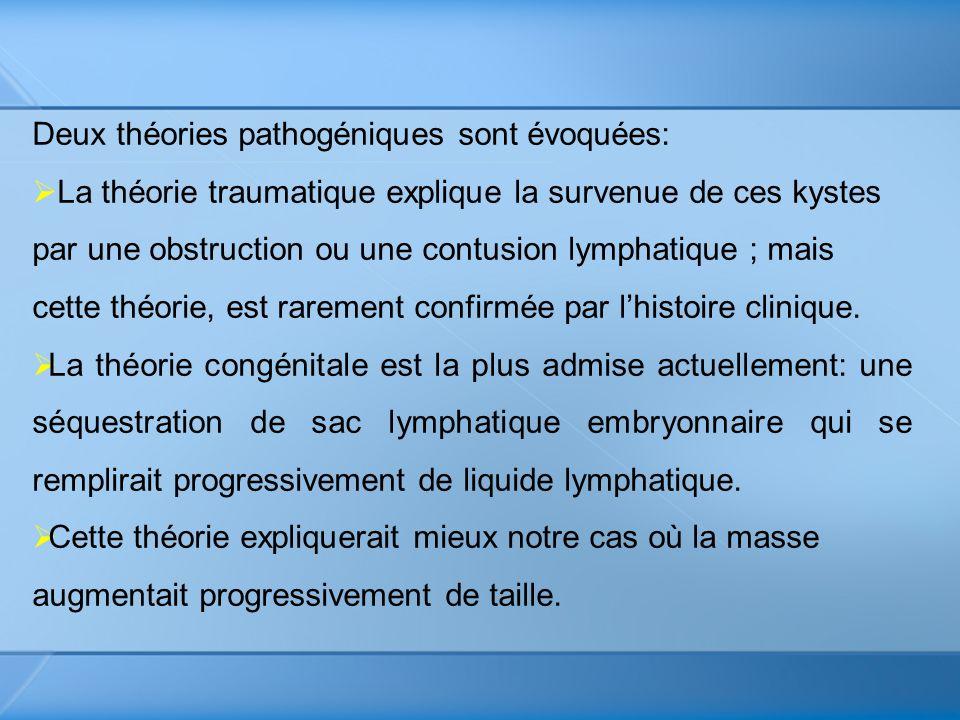 Deux théories pathogéniques sont évoquées: