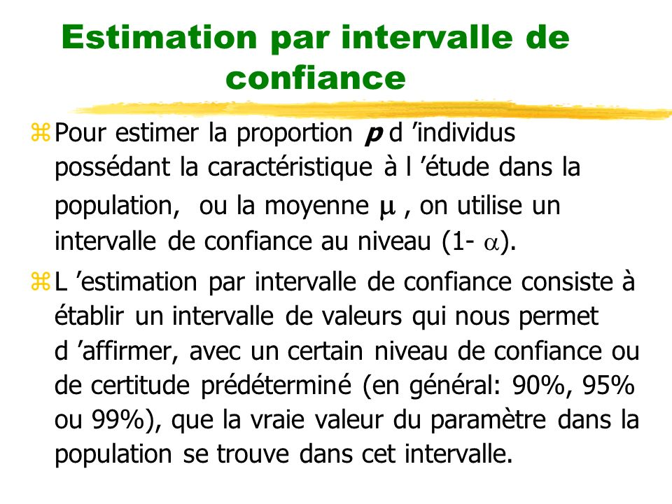 Estimation par intervalle de confiance