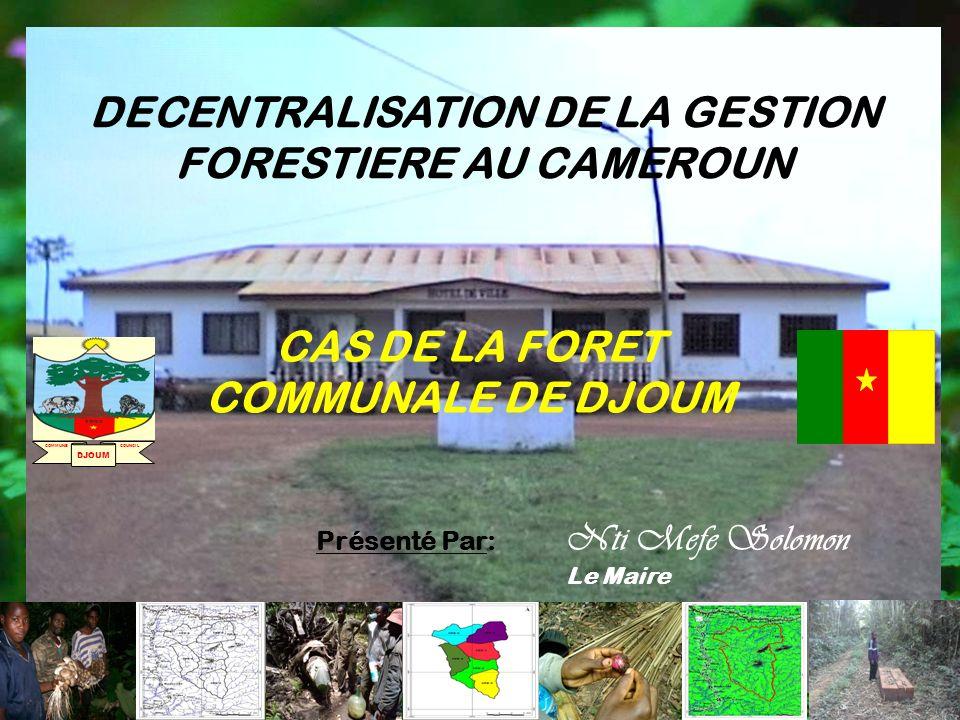 DECENTRALISATION DE LA GESTION FORESTIERE AU CAMEROUN