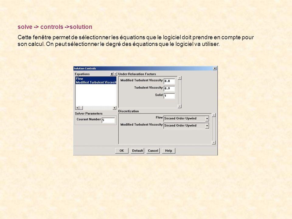 solve -> controls ->solution