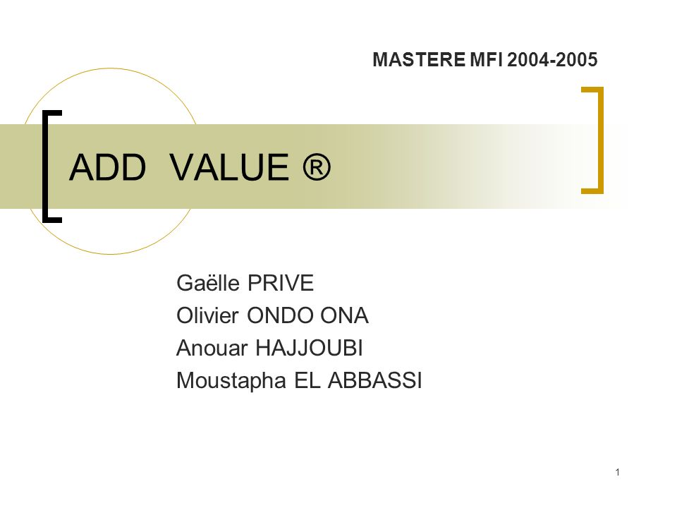 Gaëlle PRIVE Olivier ONDO ONA Anouar HAJJOUBI Moustapha EL ABBASSI