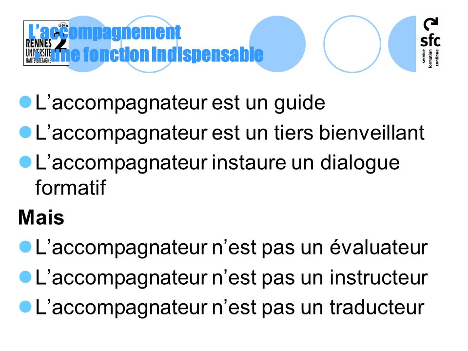 L'accompagnement  une fonction indispensable