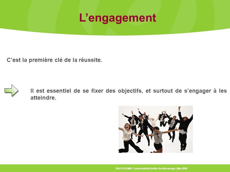 L'engagement C'est la première clé de la réussite.
