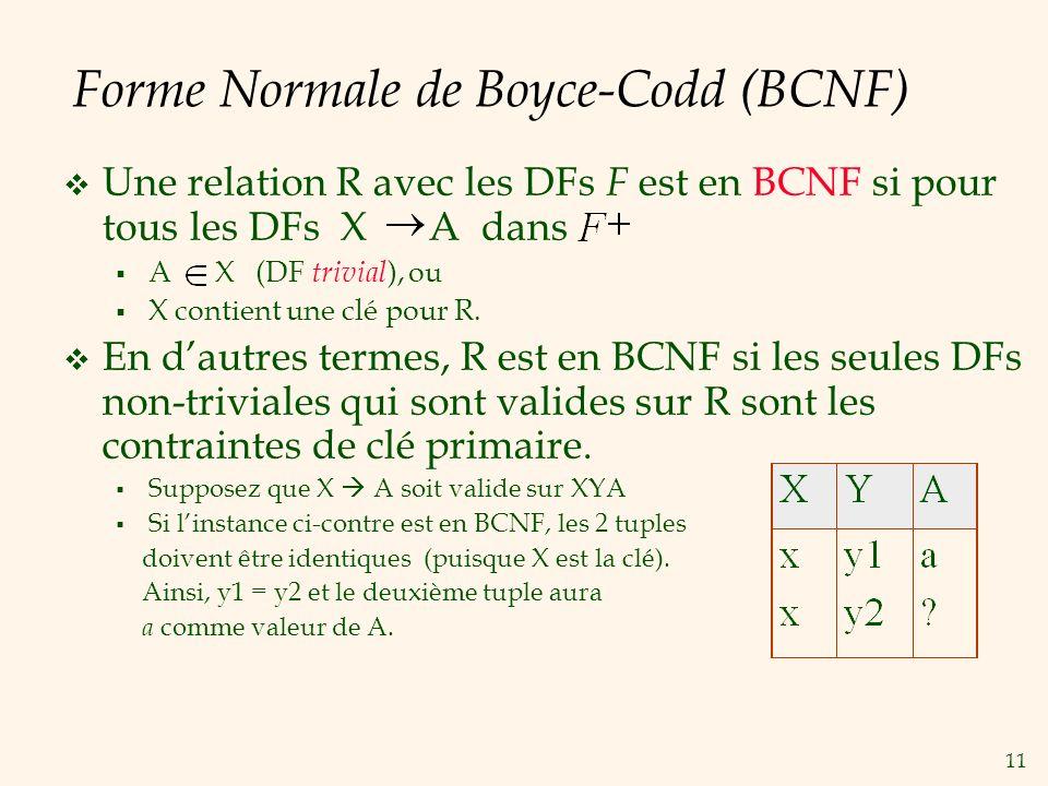 Forme Normale de Boyce-Codd (BCNF)