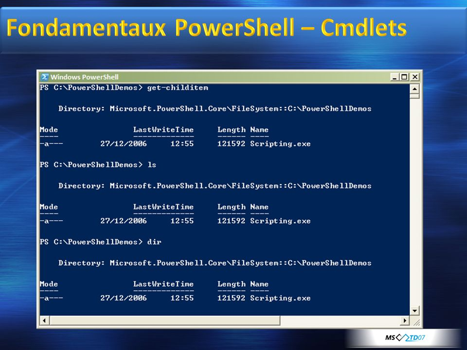 Fondamentaux PowerShell – Cmdlets