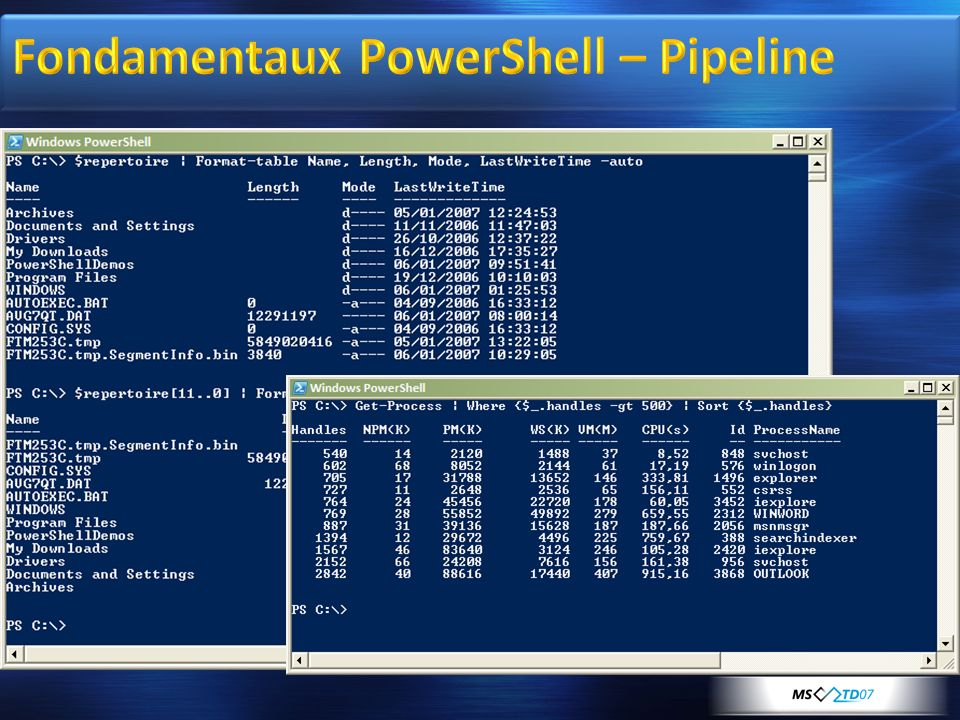 Fondamentaux PowerShell – Pipeline