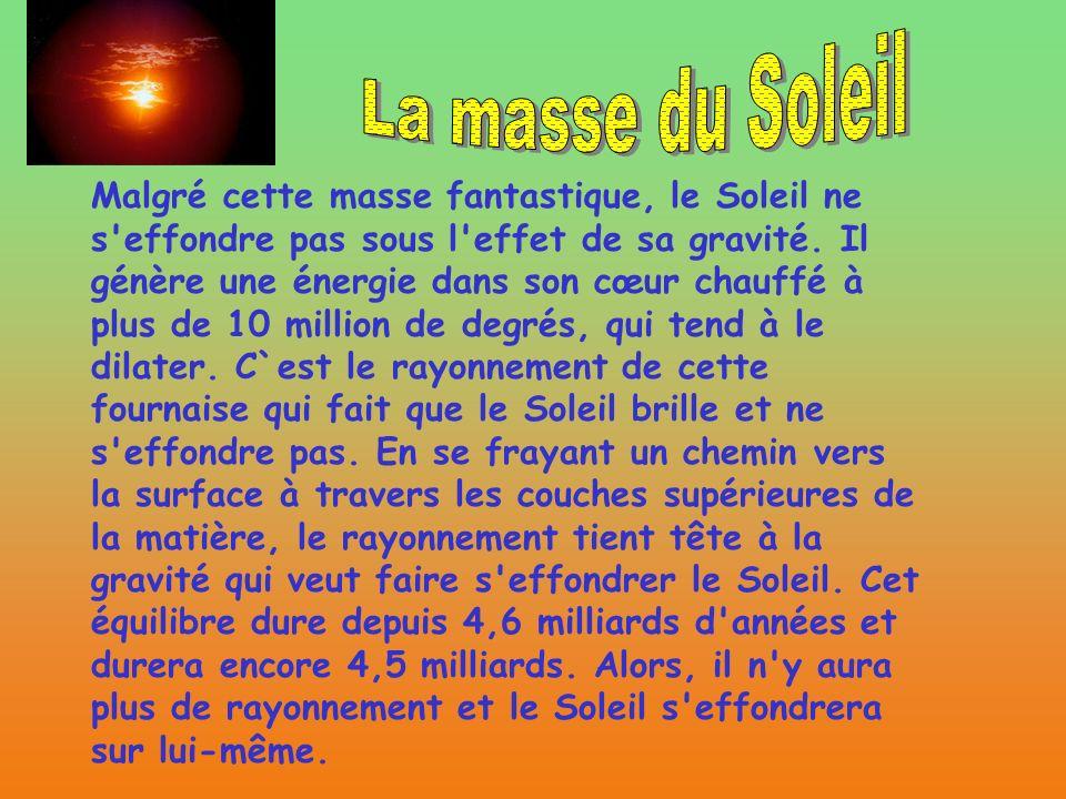 La masse du Soleil