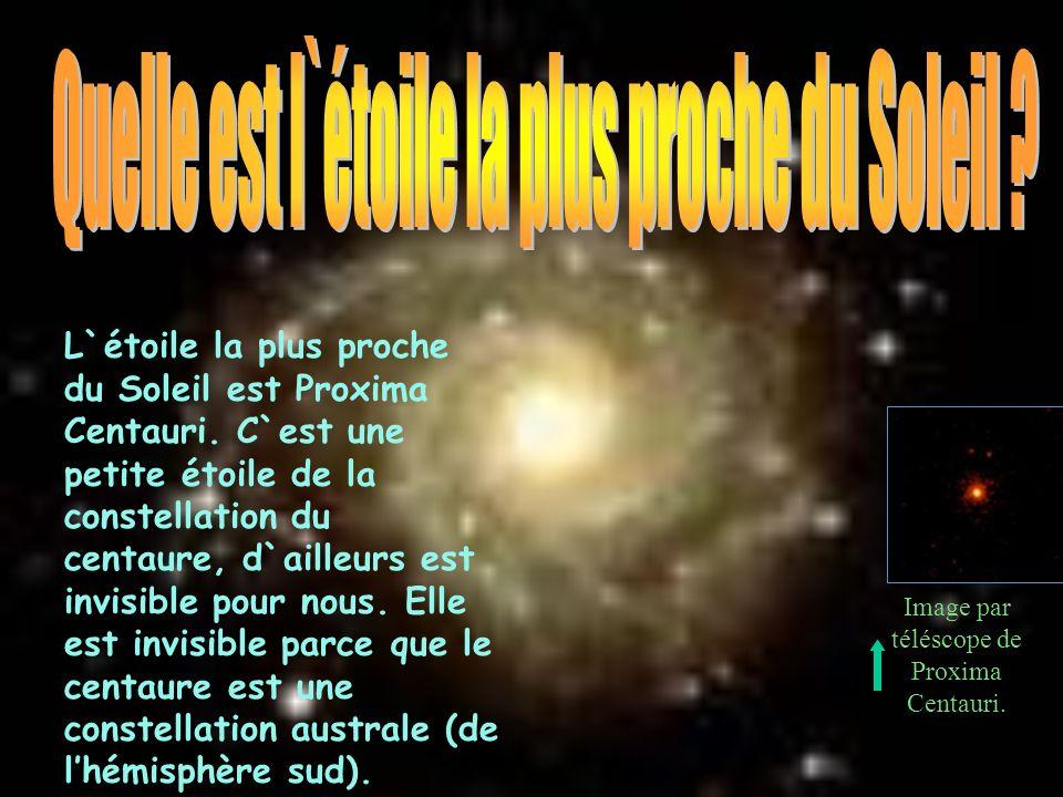 Quelle est l`étoile la plus proche du Soleil