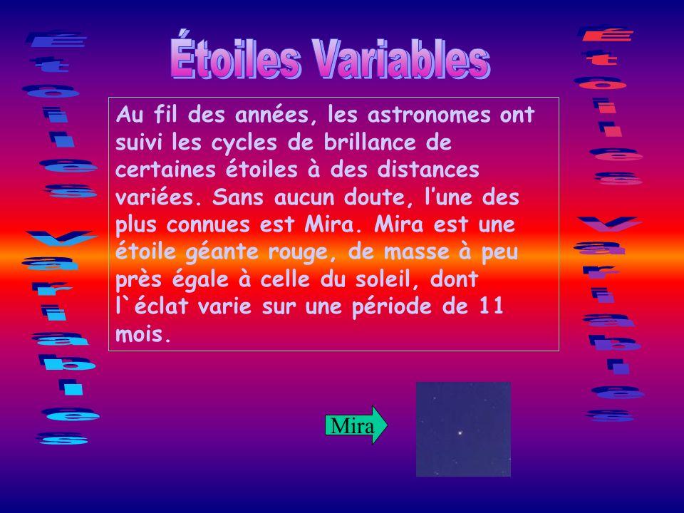 Étoiles Variables Étoiles Variables Étoiles Variables