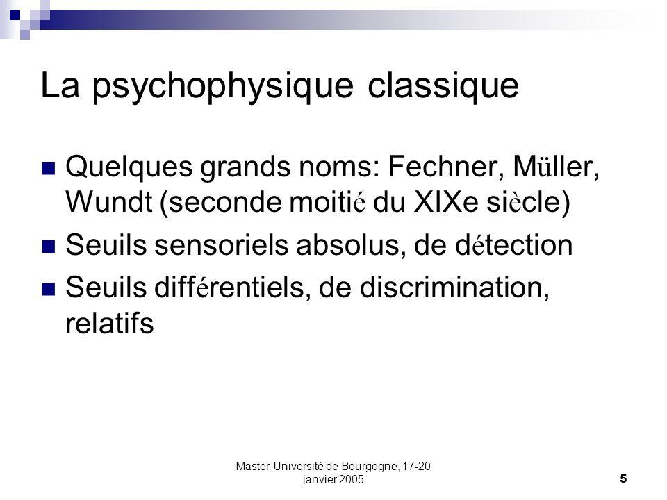 La psychophysique classique
