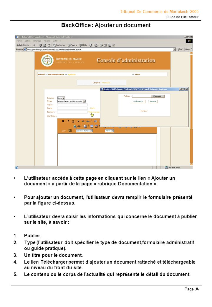 BackOffice : Ajouter un document