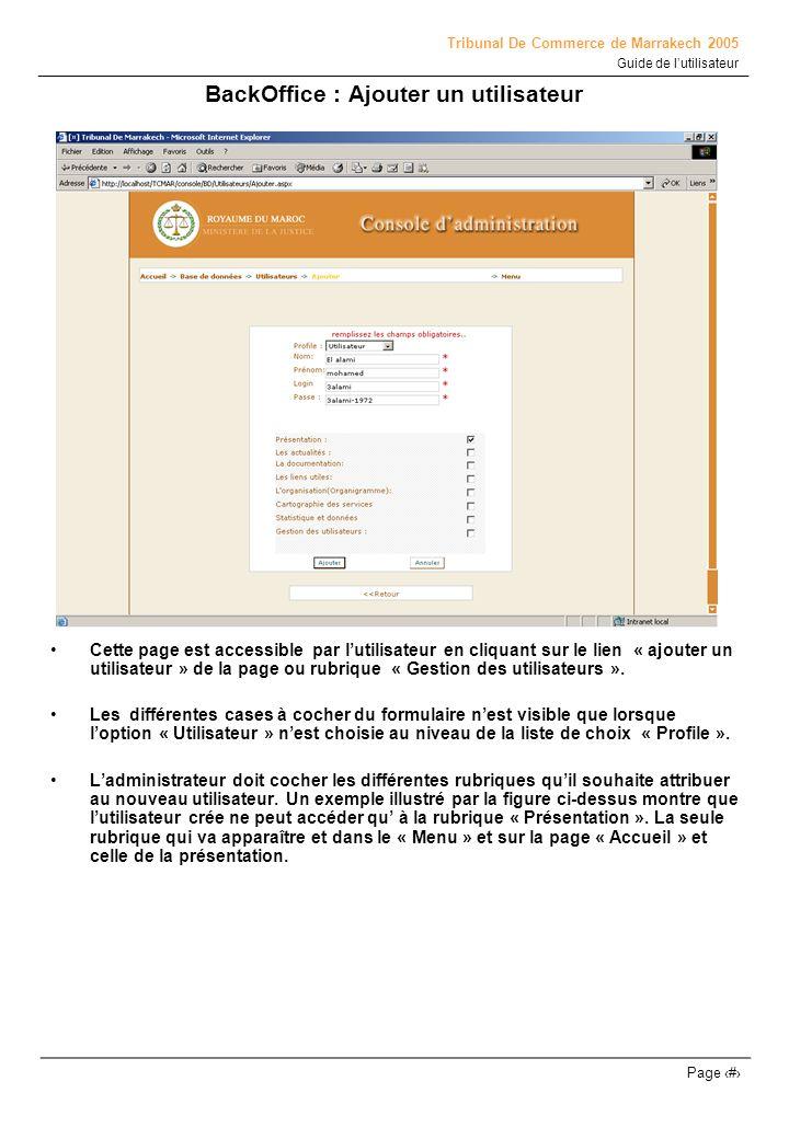 BackOffice : Ajouter un utilisateur