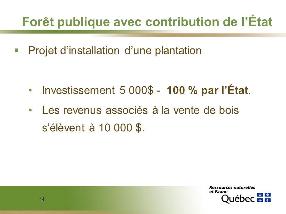 Forêt publique avec contribution de l'État