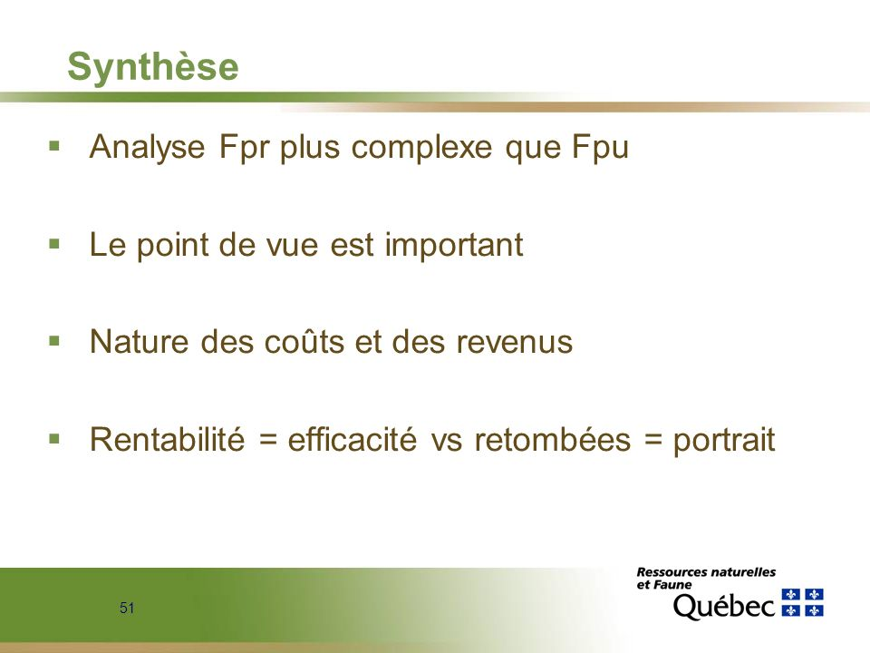 Synthèse Analyse Fpr plus complexe que Fpu