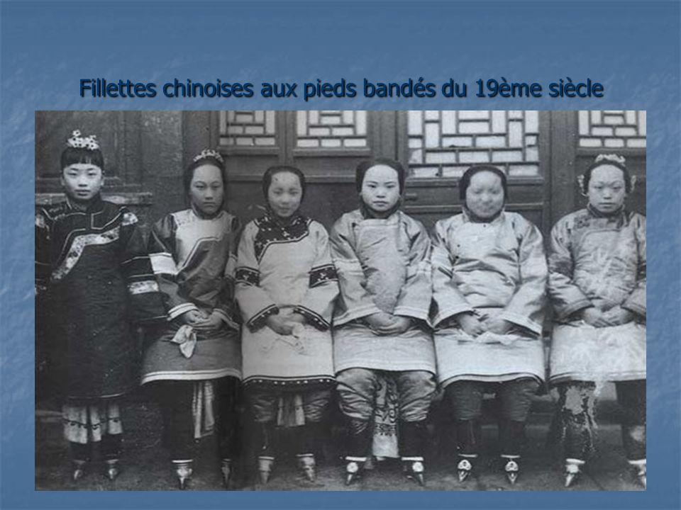 Fillettes chinoises aux pieds bandés du 19ème siècle
