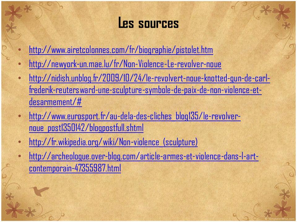 Les sources http://www.airetcolonnes.com/fr/biographie/pistolet.htm