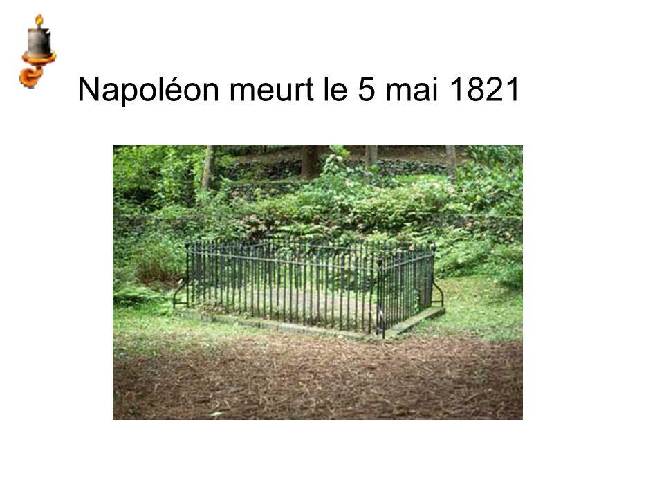 Napoléon meurt le 5 mai 1821