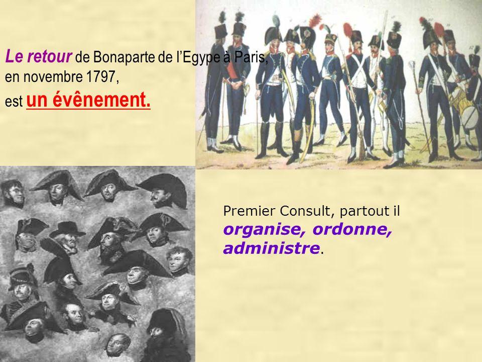 Le retour de Bonaparte de l'Egype à Paris,