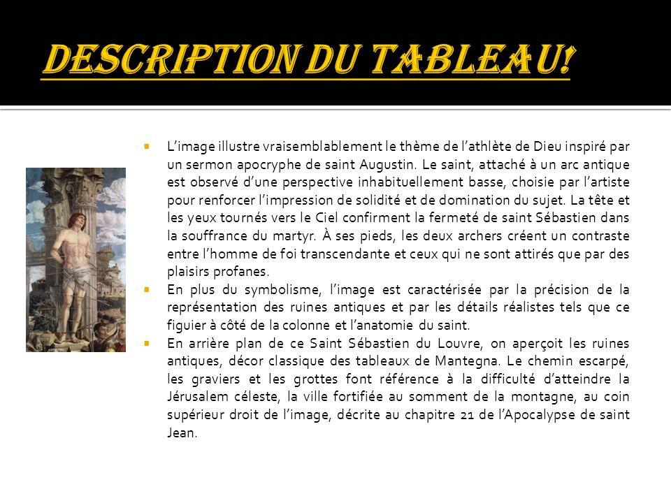 DESCRIPTION DU TABLEAU!