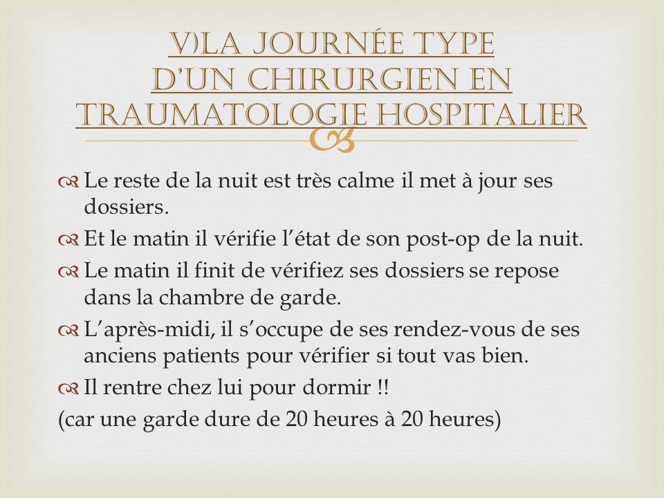 V)La journée type D'un chirurgien en traumatologie hospitalier