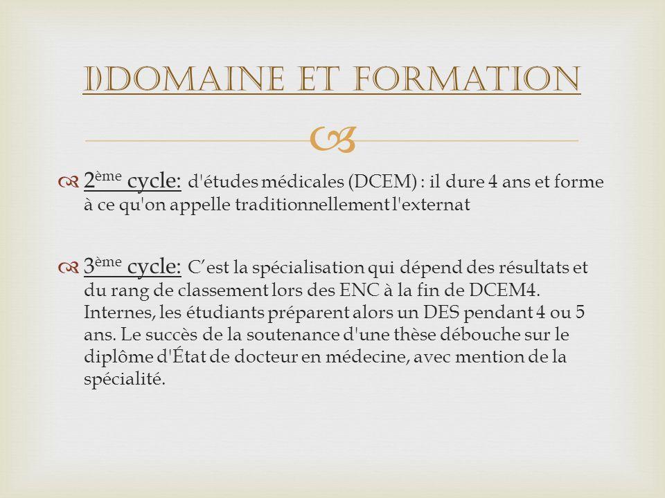 I)Domaine et formation