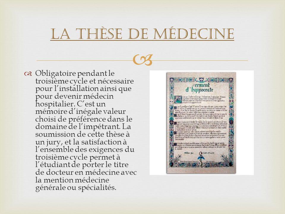 La thèse de médecine