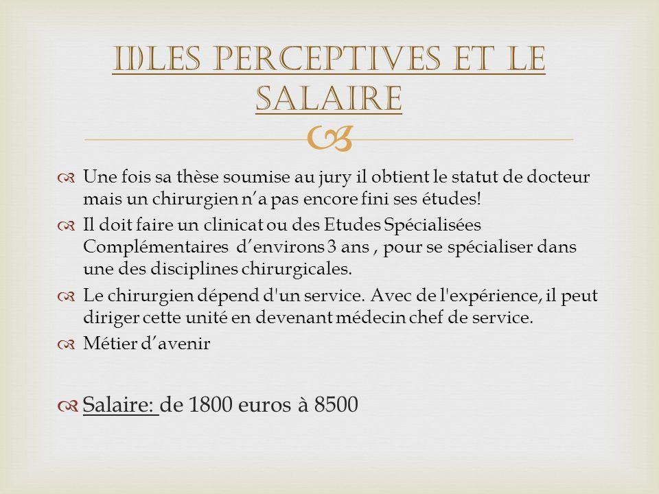 II)Les perceptives et le salaire