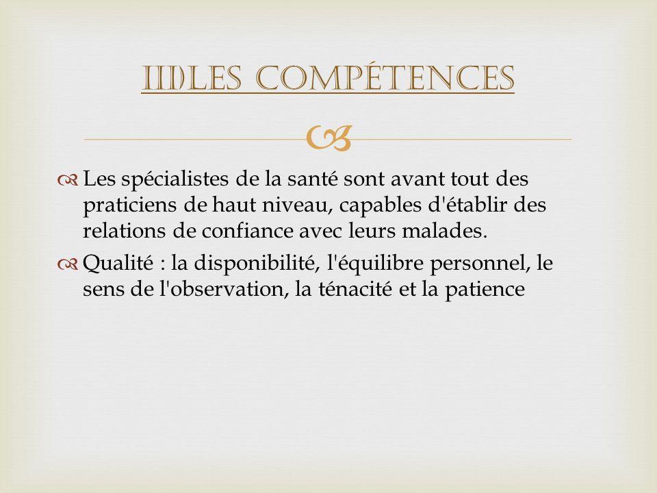 III)Les compétences