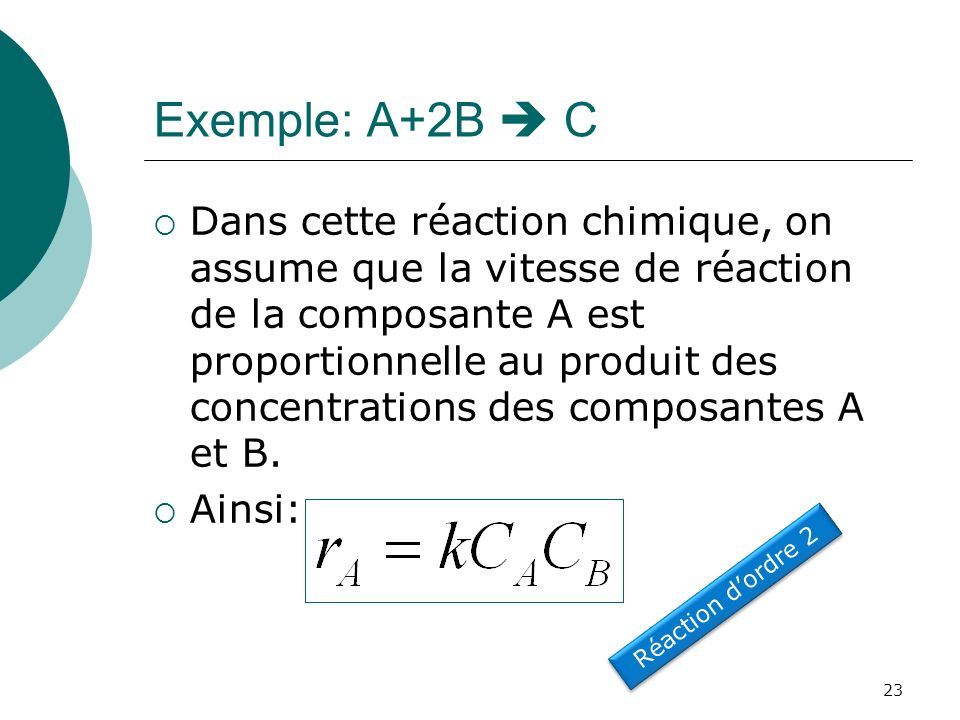 Exemple: A+2B  C