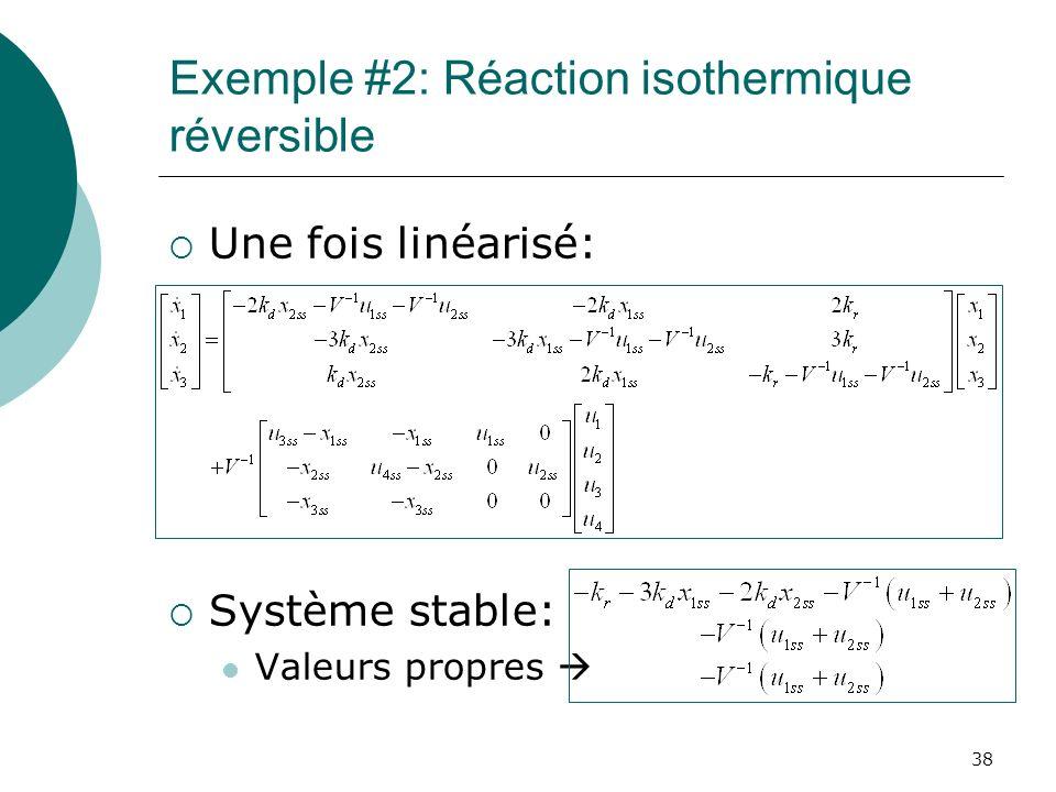 Exemple #2: Réaction isothermique réversible
