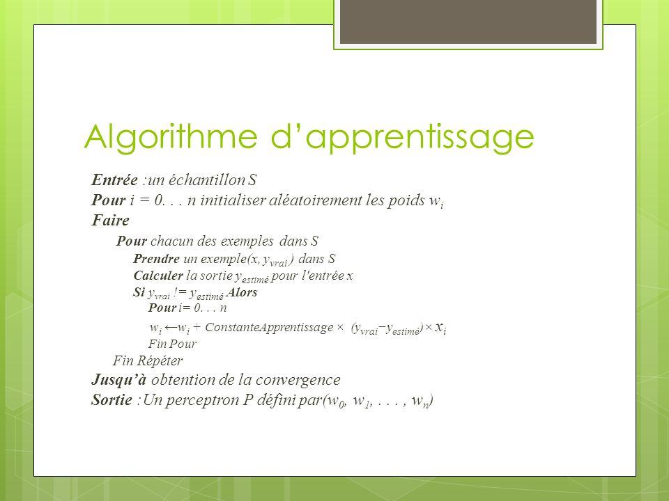 Algorithme d'apprentissage
