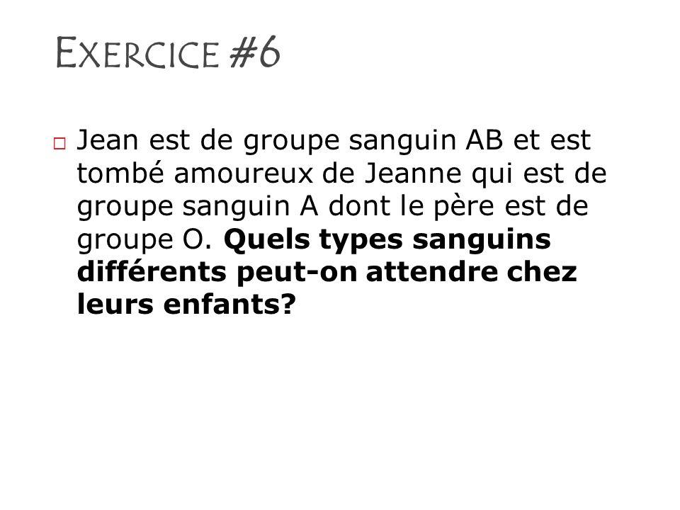 Exercice #6