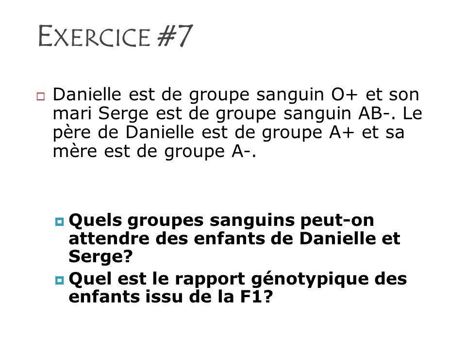 Exercice #7