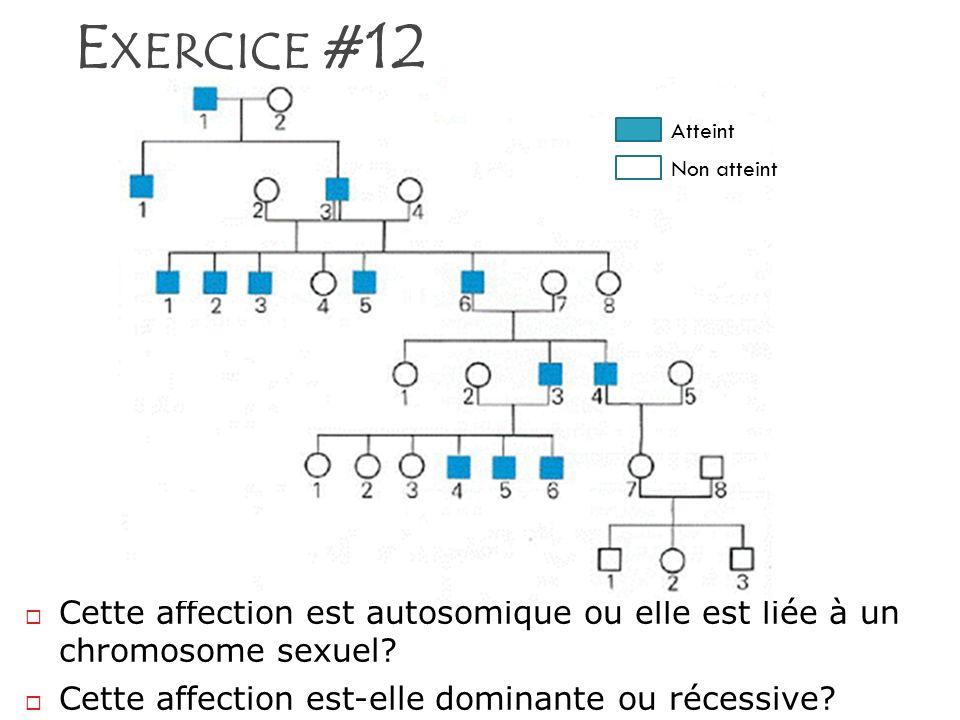 Exercice #12 Atteint. Non atteint.